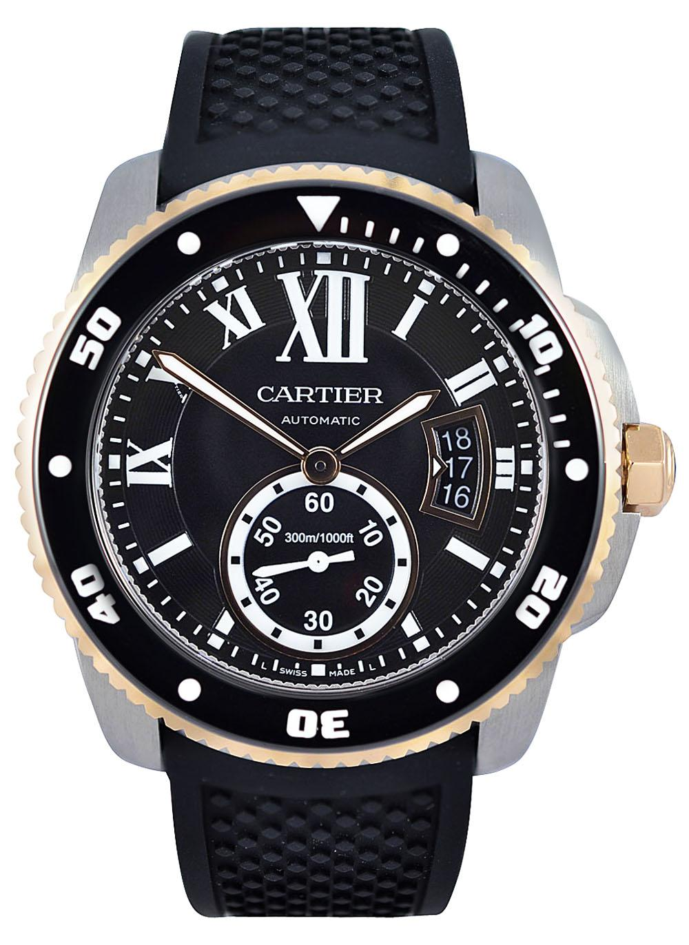 Cartier Calibre de Cartier Diver 42mm Pink Gold And Steel Watch