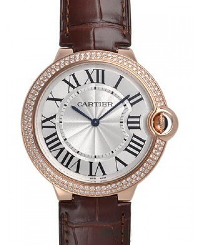 Cartier Ballon Bleu de Cartier 40mm Pink Gold Diamond Watch WE90