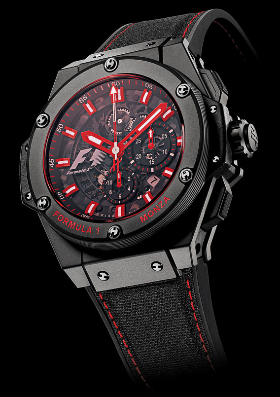 HUBLOT Monza with Red Sapphire Crystal (World 1st)