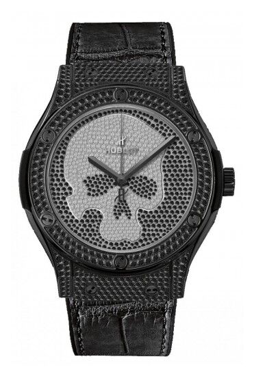 Hublot Classic Fusion Black Skull Full Pav?? Watch