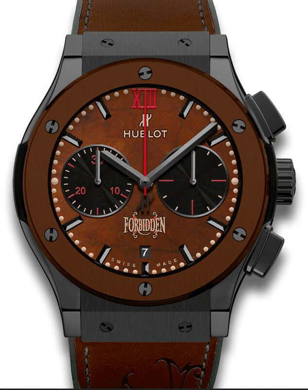 Hublot Classic Fusion Chronograph Black Brown Ceramic 521.CC.058