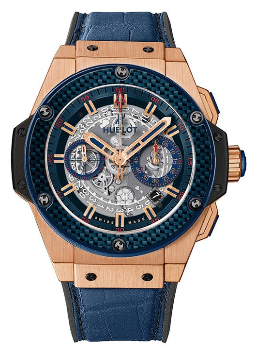 Hublot King Power Special One Blue Carbon Watch