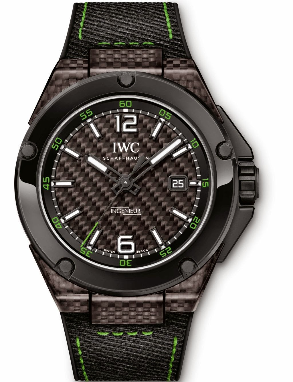 IWC Ingenieur Automatic Carbon Performance Ceramic Mens replica Watch