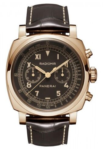 Radiomir 1940 Chronograph Brown Dial Brown Strap Men's Watch