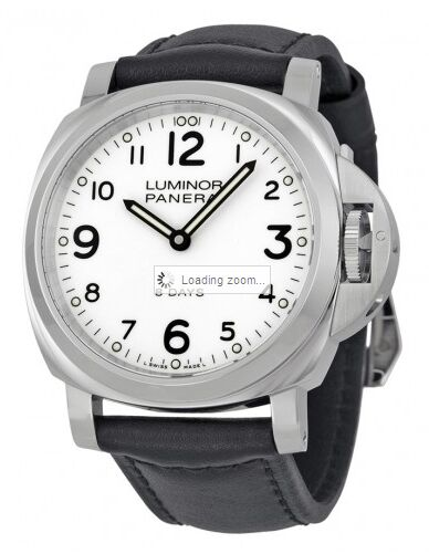 Panerai Luminor Base 8 Days Acciaio Mechanical White Dial Men's