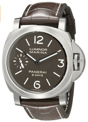 Panerai Luminor Marina Analog Display Mechanical Hand Wind Brown