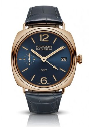 Panerai Radiomir GMT Oro Rosso Blue Dial Men's Watch