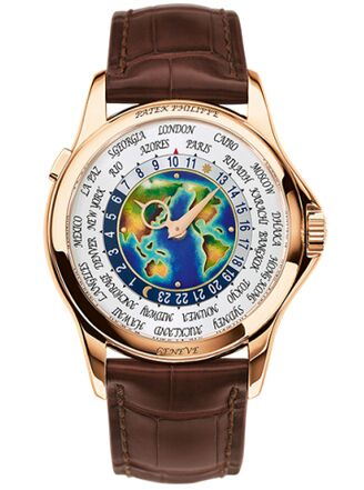 Patek Philippe World Time 5131R-001 Enamel Dial Rose Gold Full S
