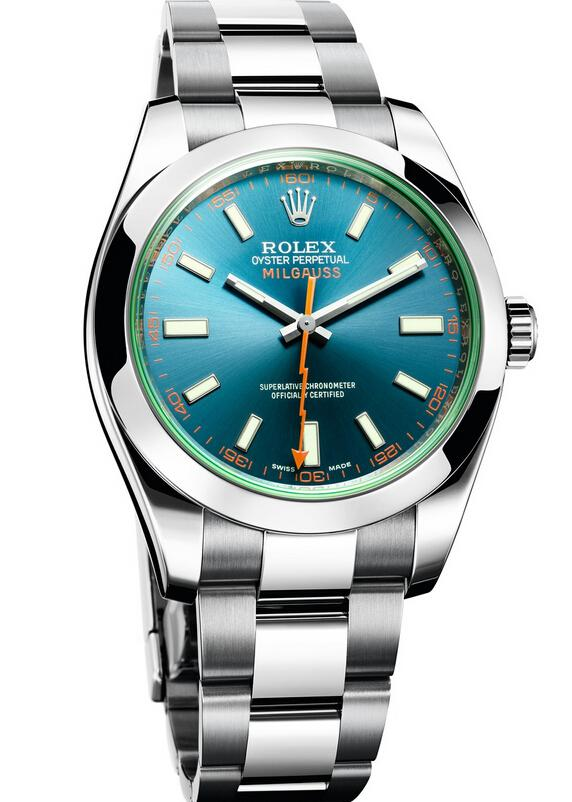 Rolex Milgauss Z Blue Dial Watch 116400GV