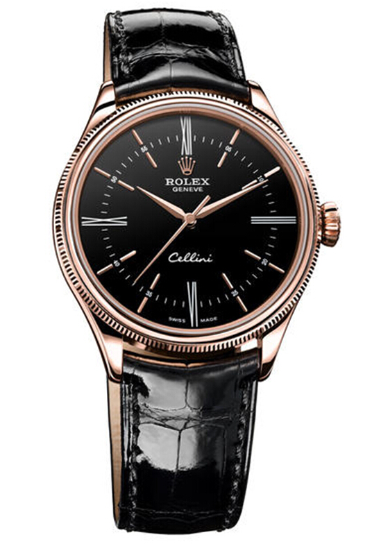 Rolex Cellini Time Everose Gold Watch 50505 bkbk