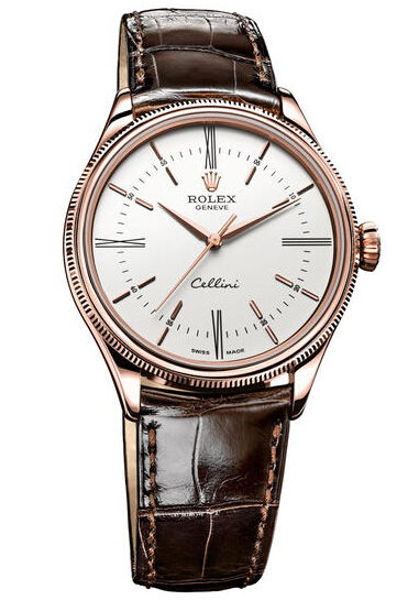Rolex Cellini Time Everose Gold Watch 50505 wbr
