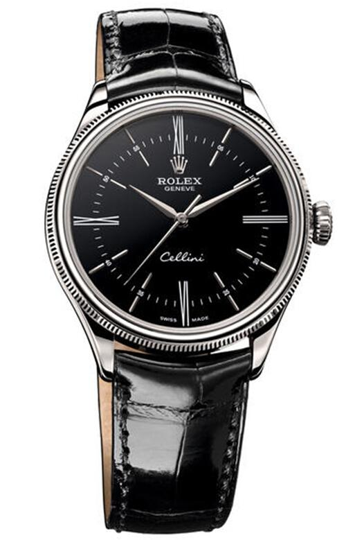 Rolex Cellini Time White Gold Watch 50509 bkbk