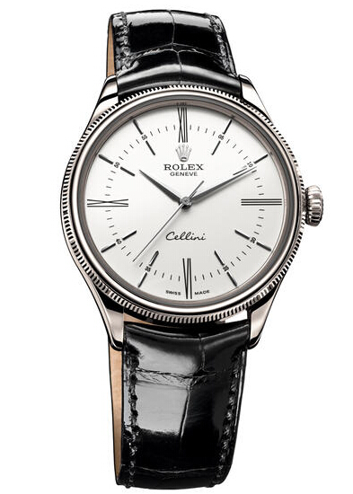 Rolex Cellini Time White Gold Watch 50509 wbk