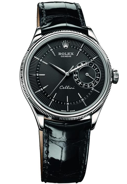 Rolex Cellini Date White Gold Watch 50519 bkbk