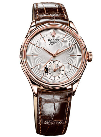 Rolex Cellini Dual Time Everose Gold Watch 50525 sbr