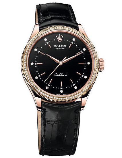 Rolex Cellini Time 50605RBR Rose Gold & Diamonds
