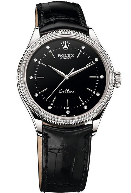 Rolex Cellini Time 18ct White Gold 50609 RBR
