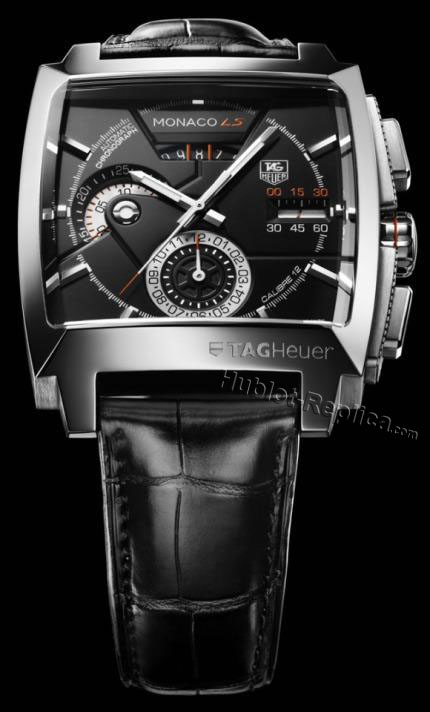 TAG HEUER Monaco LS CALIBRE 12 AUTMATICS PVD CASE LEATHER ALL BL