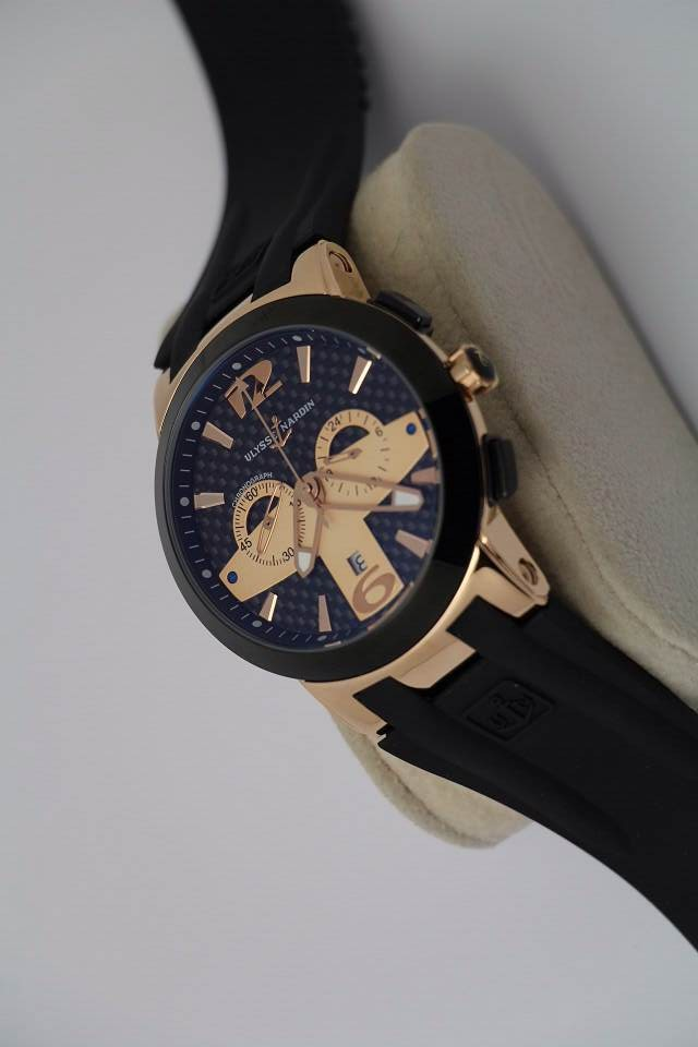 Ulysse Nardin chronograph replica watch WHITE/black/blue dial