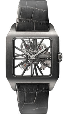 Swiss Cartier Santos De Cartier Skeleton replica watches on sale