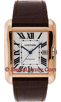 Cartier Tank Anglaise Pink Gold - Alligator StrapW5310004