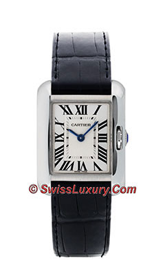 Cartier Tank Anglaise White Gold - Alligator StrapW5310029