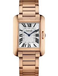 Cartier Tank Anglaise Silvered Flinque Dial Ladies replica watch