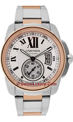 Cartier Calibre de Cartier Automatic Steel and GoldW7100036