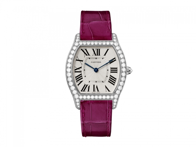 Cartier Tortue Silvered Flinque Dial Ladies WA501009 replica watch
