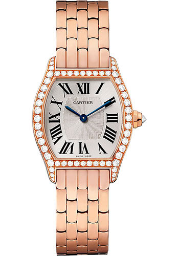 Cartier Tortue Silvered Flinque Dial Ladies replica watch