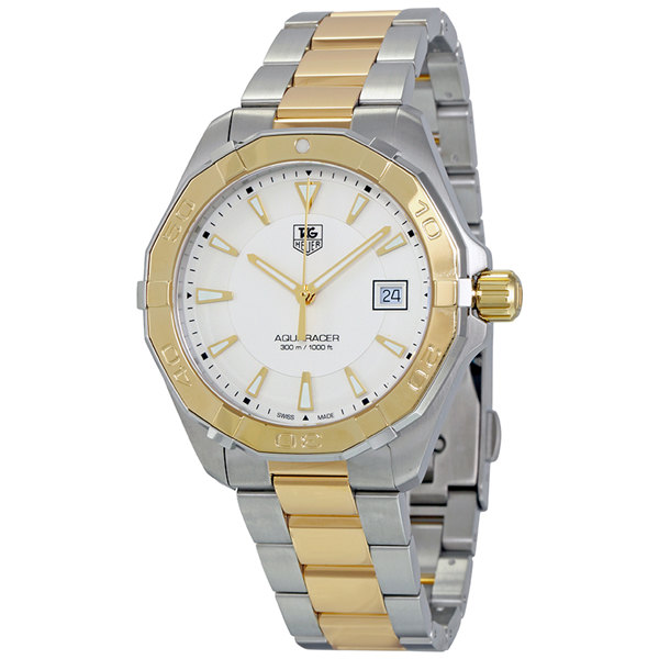 Tag Heuer Aquaracer Silver Opalin Dial Two-tone WAY1120.BB0930 Replica