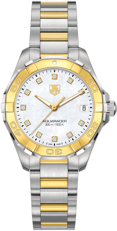 TAG Heuer Aquaracer Ladies 300M Steel & Yellow Gold32 WAY1351.BD0917