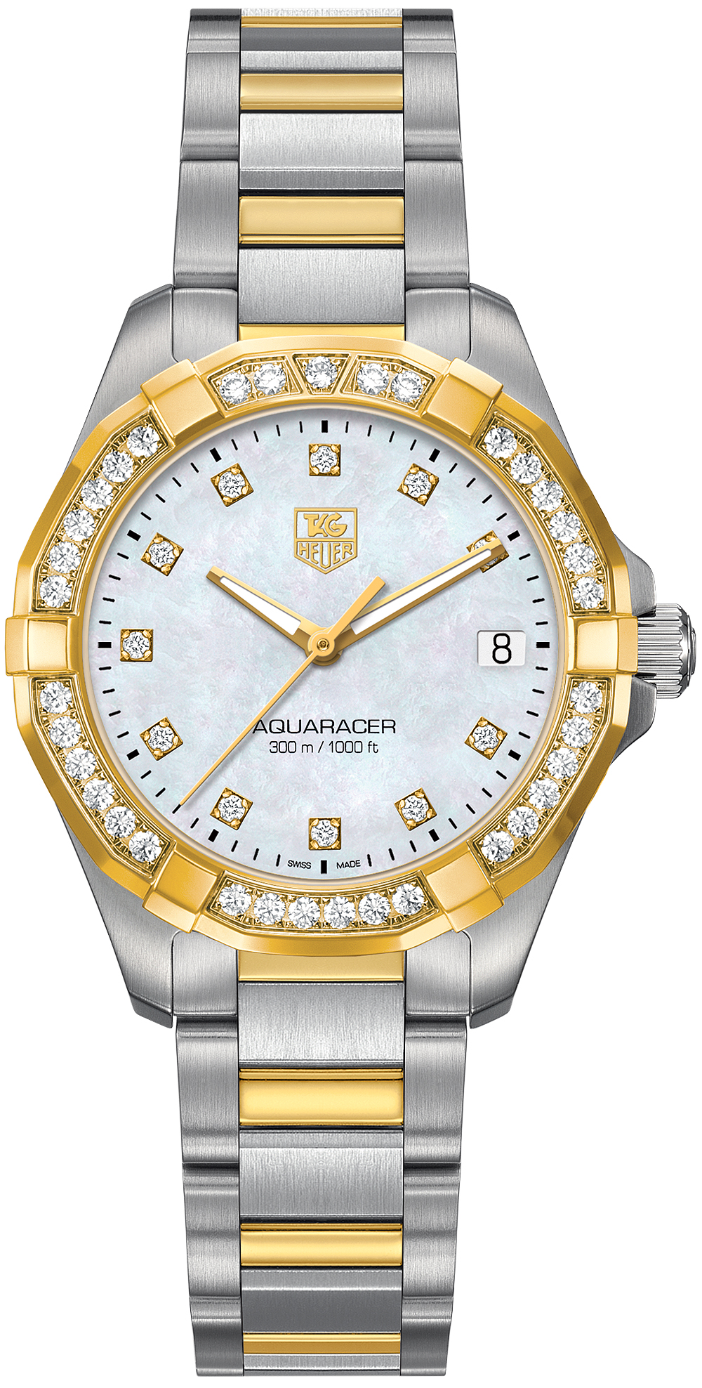 TAG Heuer Aquaracer Ladies 300M Steel & Yellow Gold32 MM WAY1353.BD0917