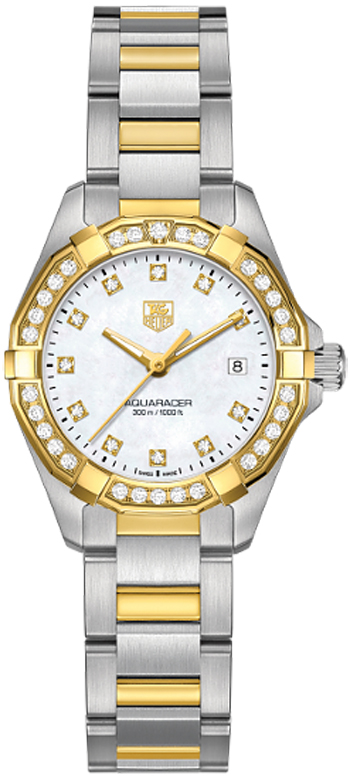 TAG Heuer Aquaracer Ladies 300M Steel & Yellow Gold27 MM WAY1453.BD0922