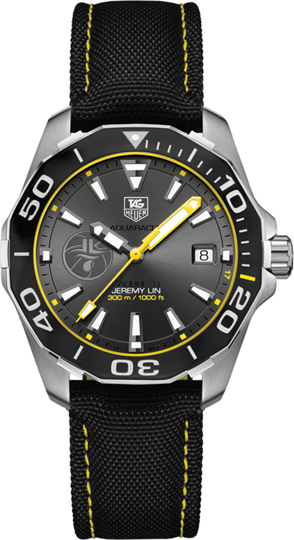 Tag Heuer Aquaracer Jeremy Lin Anthracite Dial Automatic WAY211F.FC6362 Replica