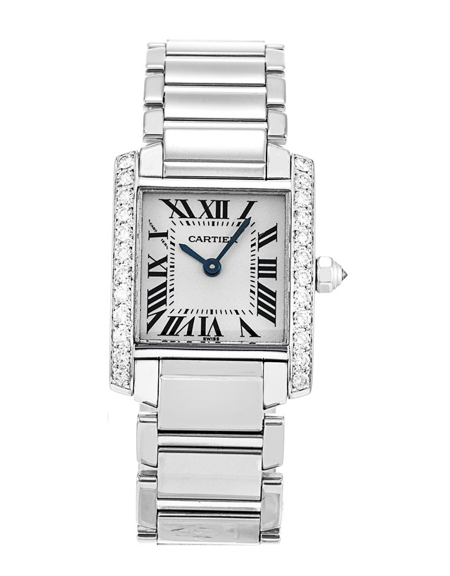 Cartier Tank Francaise Diamonds 18k White Gold Ladies WE100251 replica watch