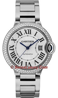 Cartier Ballon Bleu White Gold With DiamondsWE9006Z3