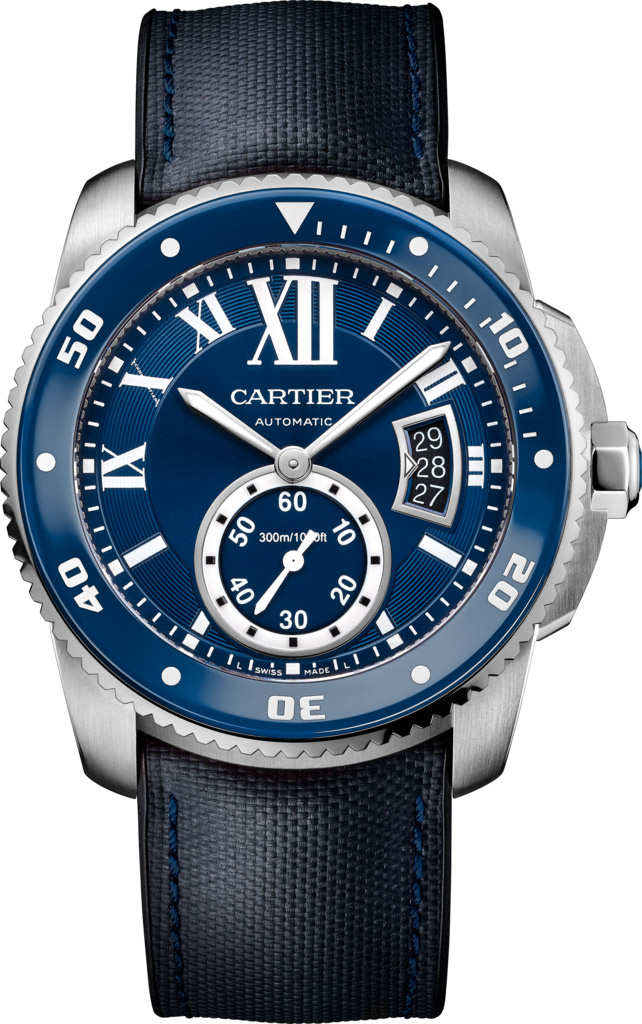 Calibre de Cartier WSCA0010 Diver blue replica watch