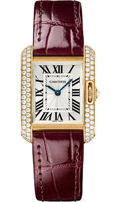 Cartier Tank Anglaise Pink Gold With Diamonds WT100013