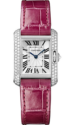 Cartier Tank Anglaise White Gold With Diamonds WT100015