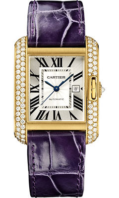 Cartier Tank Anglaise Yellow Gold With Diamonds WT100017