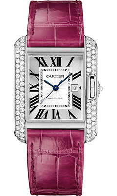 Cartier Tank Anglaise White Gold With Diamonds WT100018