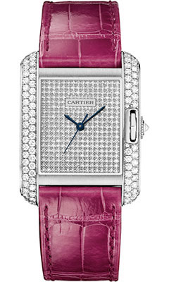 Cartier Tank Anglaise White Gold With Diamonds WT100020