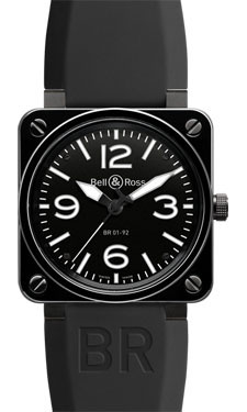 Bell & Ross BR 01-92 Automatic Black Ceramic Rubber
