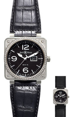 Bell & Ross BR 01-96 Automatic Big Date Diamonds Black