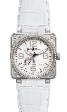 Bell & Ross BR 01-97 Power Reserve Diamonds White