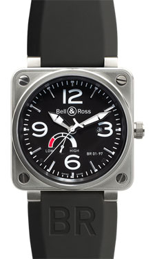 Bell & Ross BR 01-97 Power Reserve Steel Black