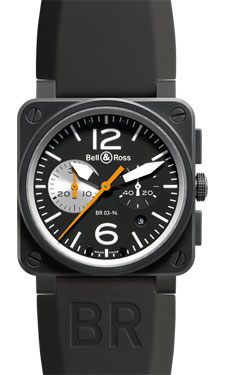 Bell & Ross BR 03-94 Chronograph Carbon Black White