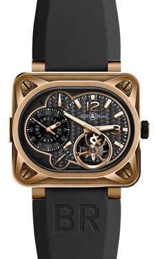 Bell & Ross BR 01 Minuteur Tourbillon Rose Gold