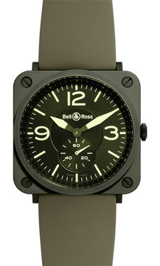 Bell & Ross BR-S Quartz Military Ceramic